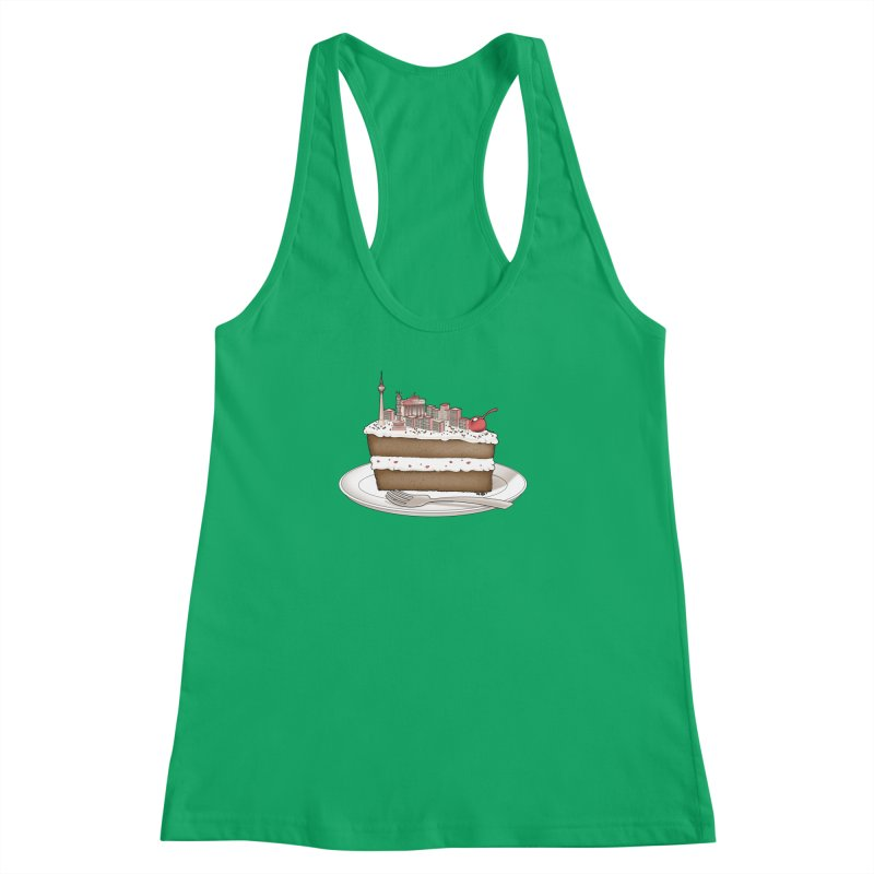 Hungry for Travels: Slice of Berlin Women's Racerback Tank by Tobe Fonseca's Artist Shop