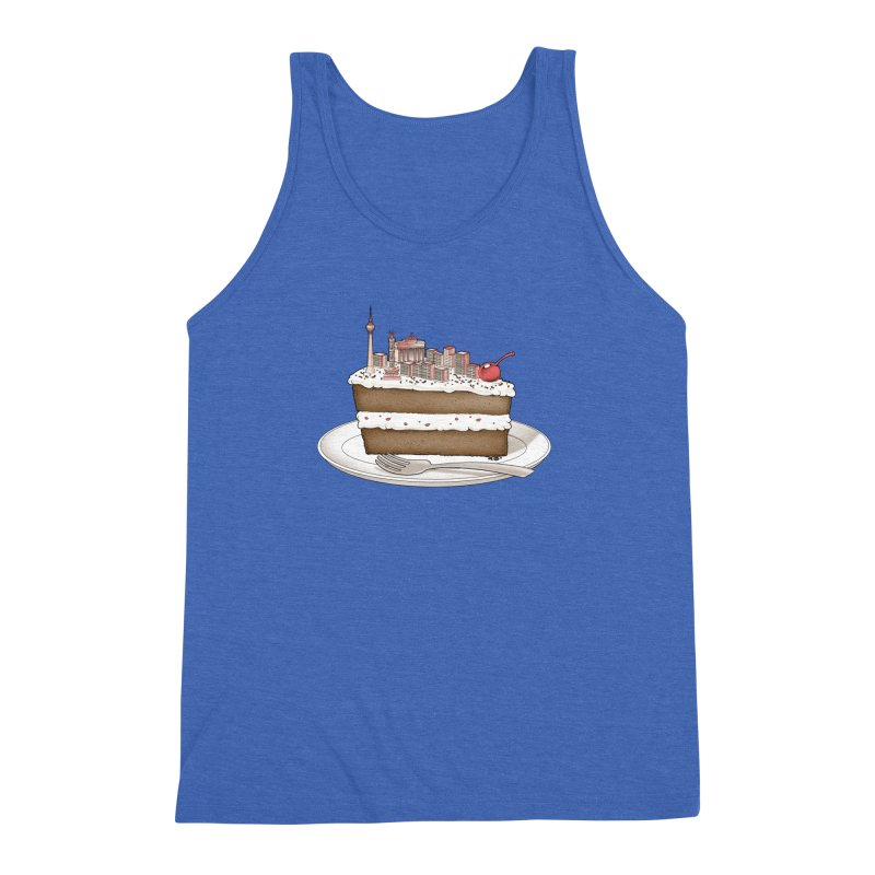 Hungry for Travels: Slice of Berlin Men's Triblend Tank by Tobe Fonseca's Artist Shop