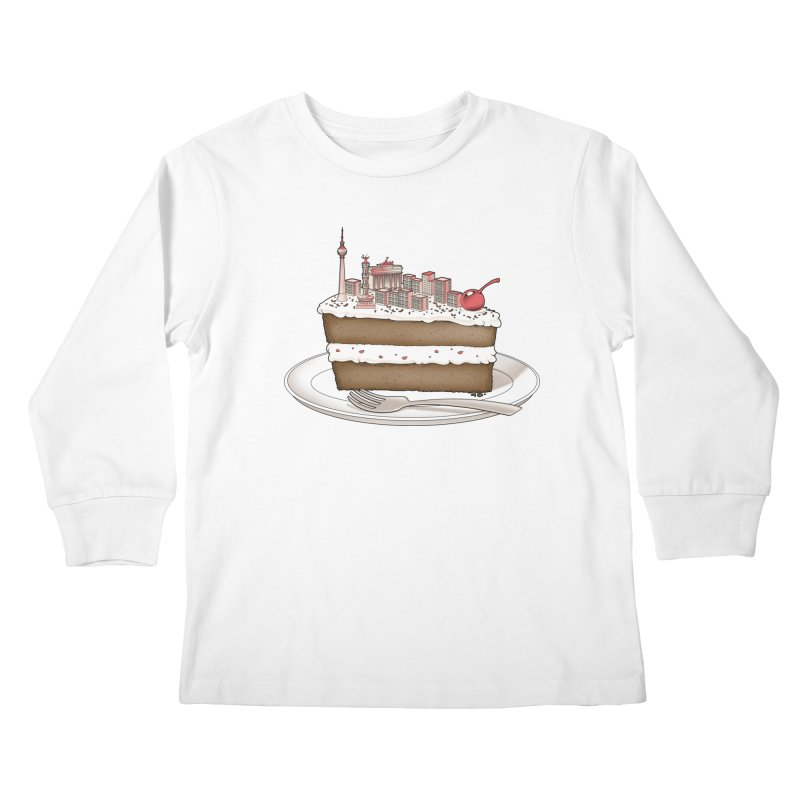 Hungry for Travels: Slice of Berlin Kids Longsleeve T-Shirt by Tobe Fonseca's Artist Shop