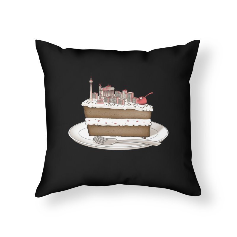 Hungry for Travels: Slice of Berlin Home Throw Pillow by Tobe Fonseca's Artist Shop