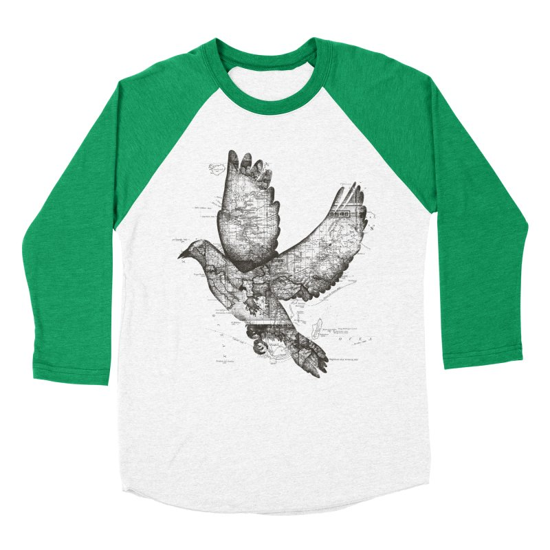 Wanderlust Men's Baseball Triblend T-Shirt by Tobe Fonseca's Artist Shop