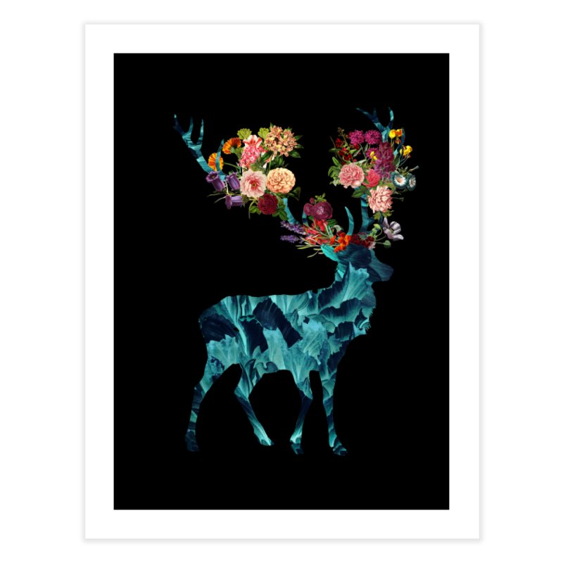 Spring Itself Floral Dark Home Fine Art Print by Tobe Fonseca's Artist Shop