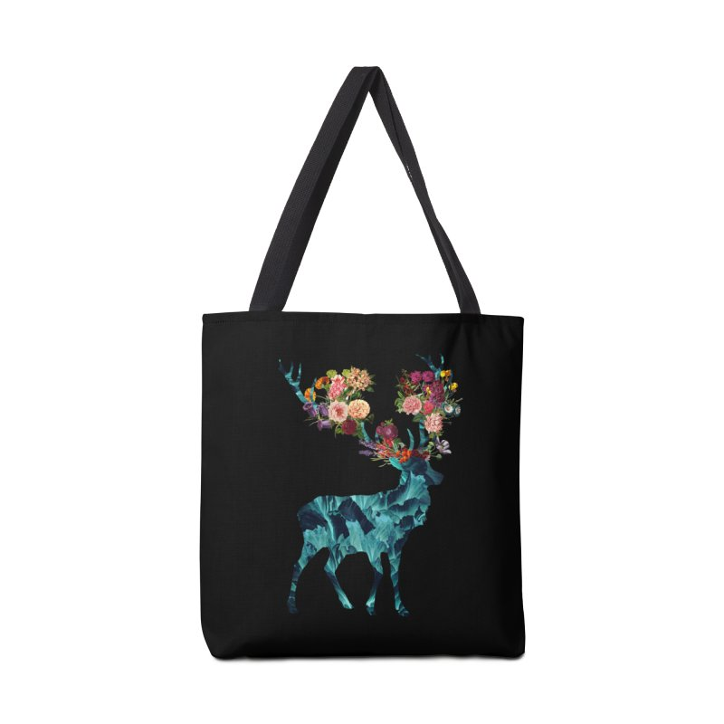 Spring Itself Floral Dark Accessories Bag by Tobe Fonseca's Artist Shop