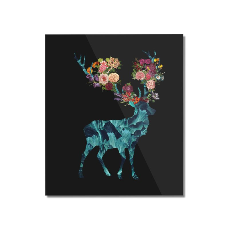 Spring Itself Floral Dark Home Mounted Acrylic Print by Tobe Fonseca's Artist Shop