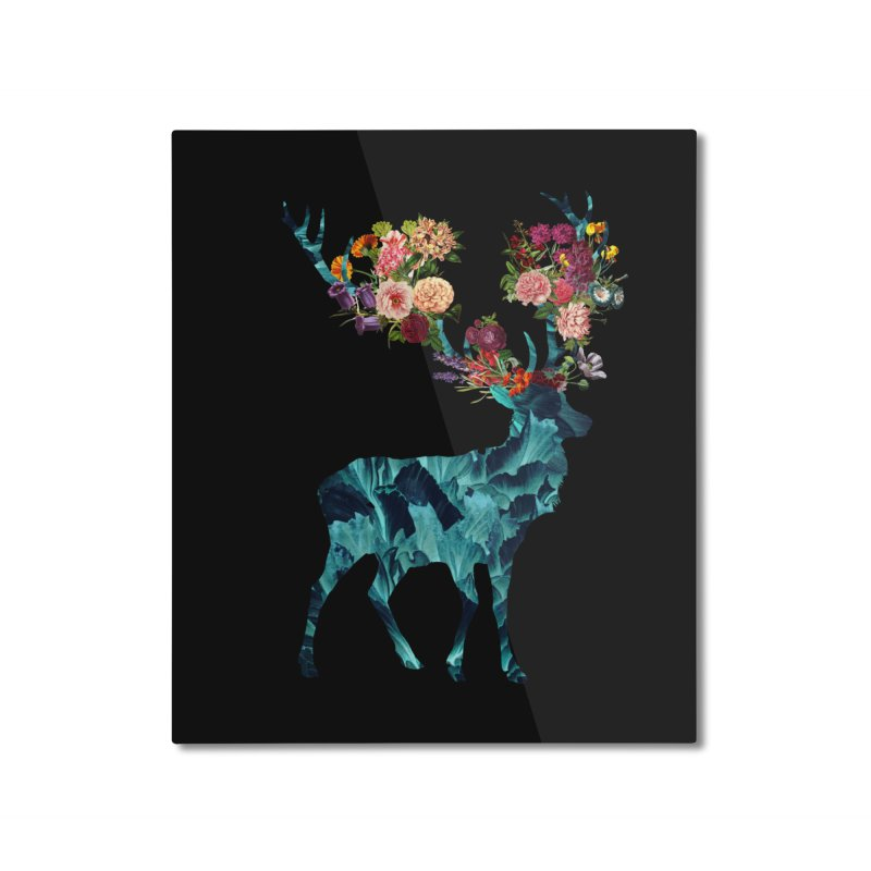 Spring Itself Floral Dark Home Mounted Aluminum Print by Tobe Fonseca's Artist Shop