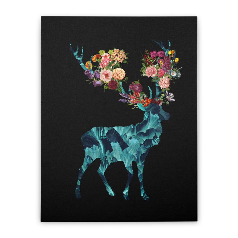 Spring Itself Floral Dark Home Stretched Canvas by Tobe Fonseca's Artist Shop