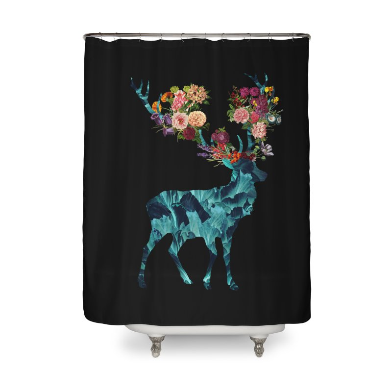 Spring Itself Floral Dark Home Shower Curtain by Tobe Fonseca's Artist Shop
