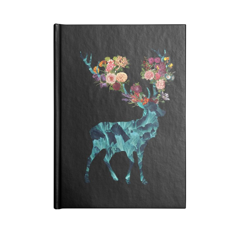 Spring Itself Floral Dark Accessories Notebook by Tobe Fonseca's Artist Shop
