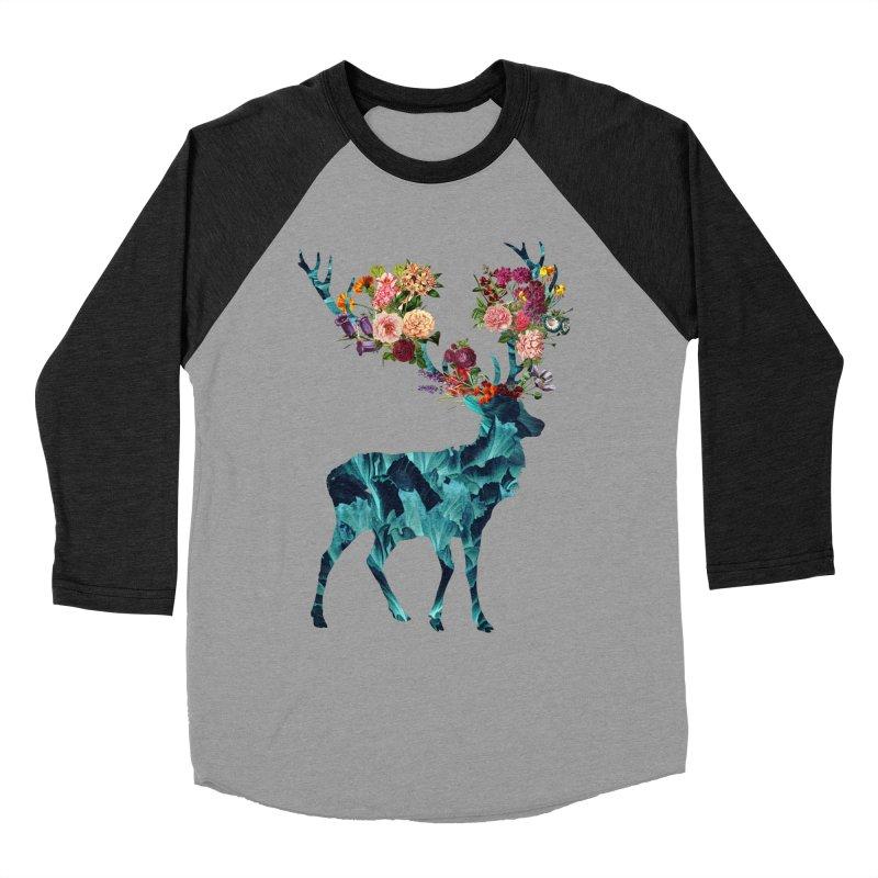 Spring Itself Floral Dark Men's Baseball Triblend T-Shirt by Tobe Fonseca's Artist Shop