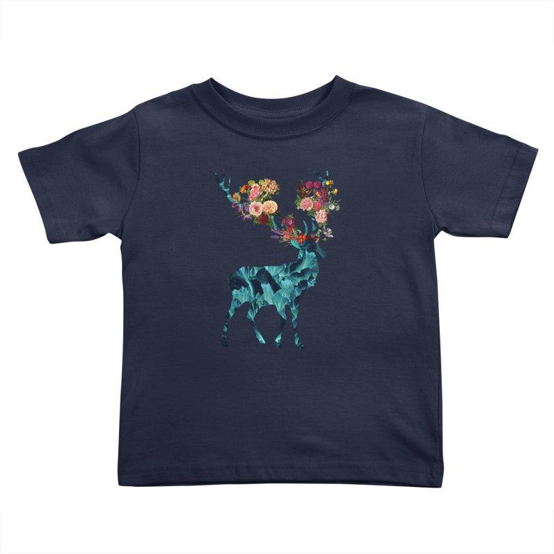 Spring Itself Floral Dark Kids Toddler T-Shirt by Tobe Fonseca's Artist Shop