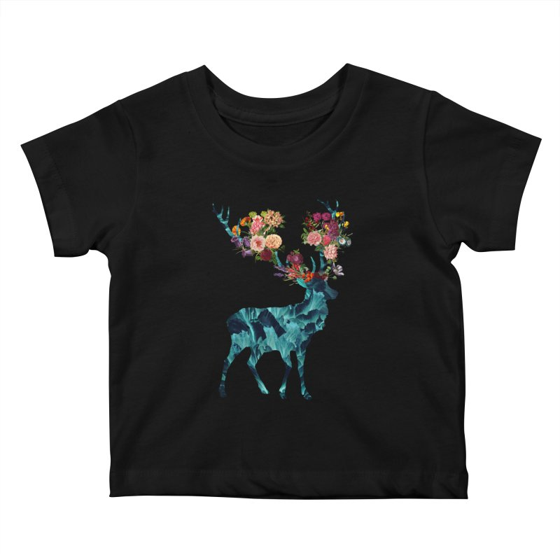 Spring Itself Floral Dark Kids Baby T-Shirt by Tobe Fonseca's Artist Shop