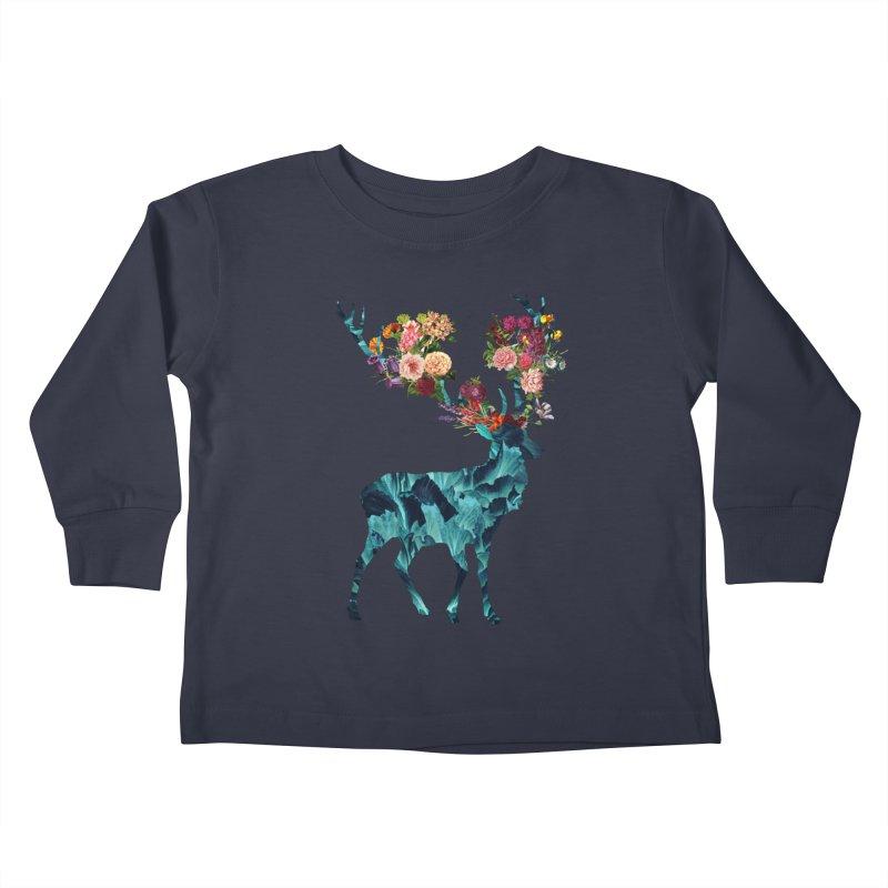 Spring Itself Floral Dark Kids Toddler Longsleeve T-Shirt by Tobe Fonseca's Artist Shop