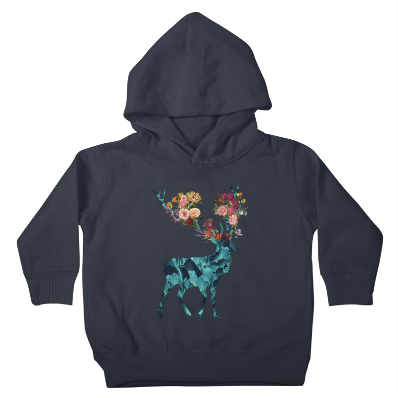 Spring Itself Floral Dark Kids Toddler Pullover Hoody by Tobe Fonseca's Artist Shop