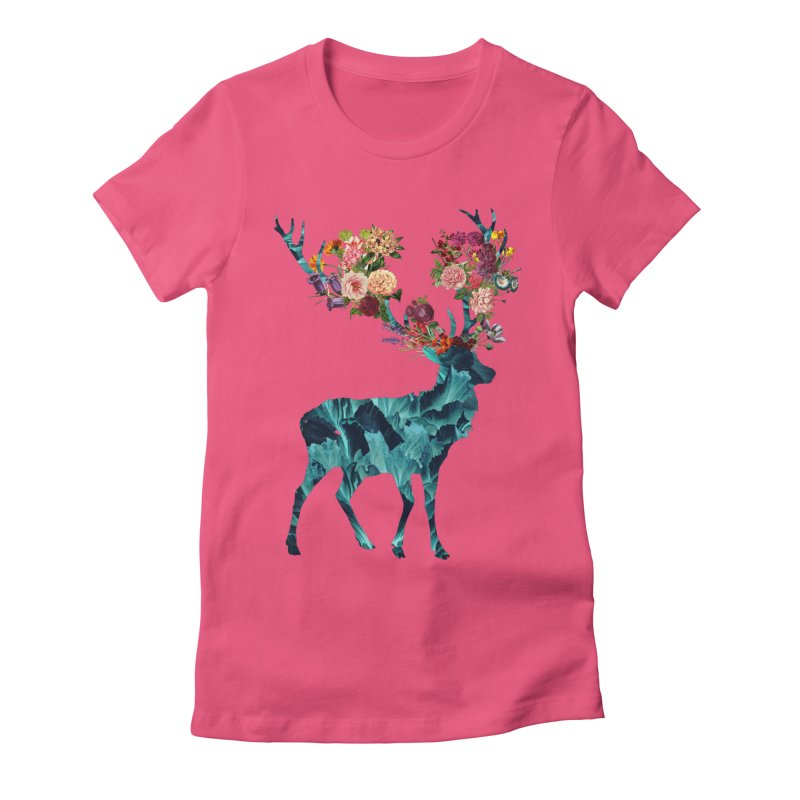 Spring Itself Floral Dark Women's Fitted T-Shirt by Tobe Fonseca's Artist Shop