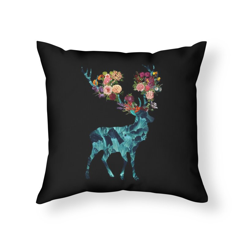Spring Itself Floral Dark Home Throw Pillow by Tobe Fonseca's Artist Shop