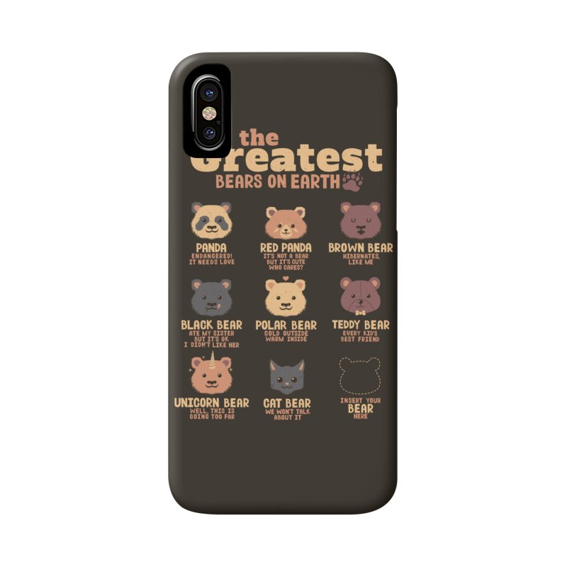 Greatest Bears Insert Your Bear Accessories Phone Case by Tobe Fonseca's Artist Shop