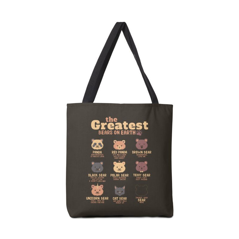 Greatest Bears Insert Your Bear Accessories Bag by Tobe Fonseca's Artist Shop