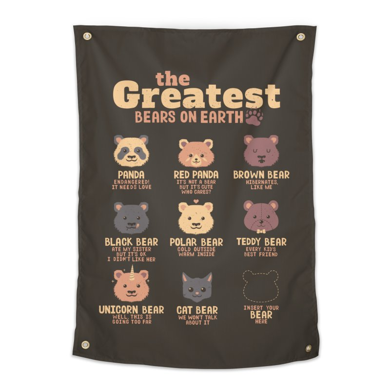 Greatest Bears Insert Your Bear Home Tapestry by Tobe Fonseca's Artist Shop