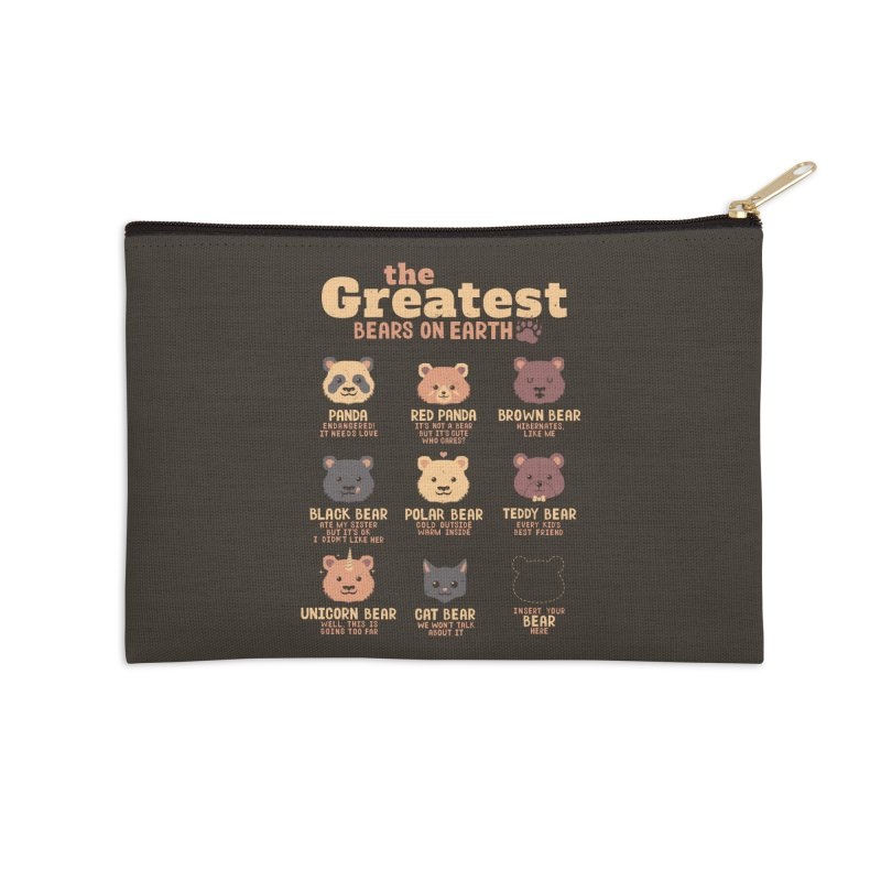 Greatest Bears Insert Your Bear Accessories Zip Pouch by Tobe Fonseca's Artist Shop