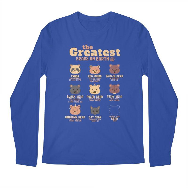 Greatest Bears Insert Your Bear Men's Longsleeve T-Shirt by Tobe Fonseca's Artist Shop