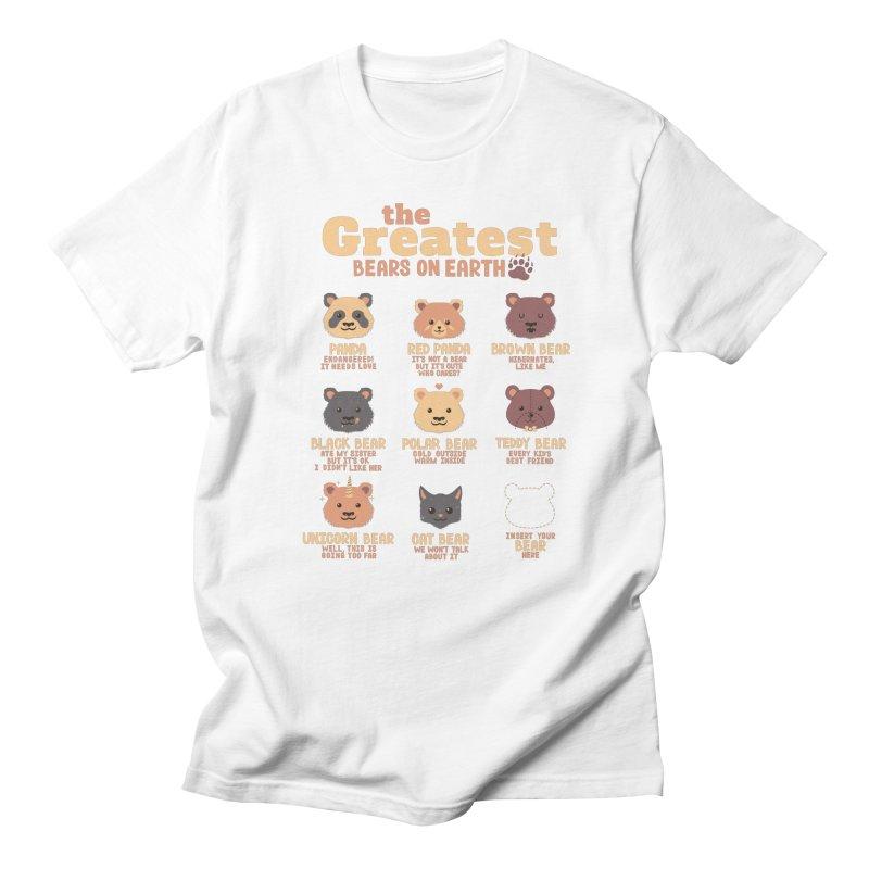 Greatest Bears Insert Your Bear Women's Unisex T-Shirt by Tobe Fonseca's Artist Shop