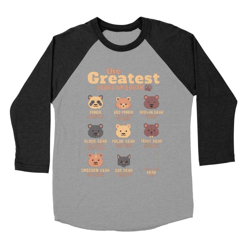 Greatest Bears Insert Your Bear Women's Baseball Triblend T-Shirt by Tobe Fonseca's Artist Shop