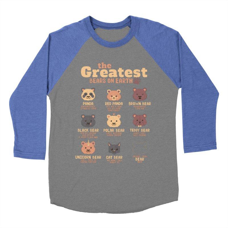 Greatest Bears Insert Your Bear Men's Baseball Triblend T-Shirt by Tobe Fonseca's Artist Shop