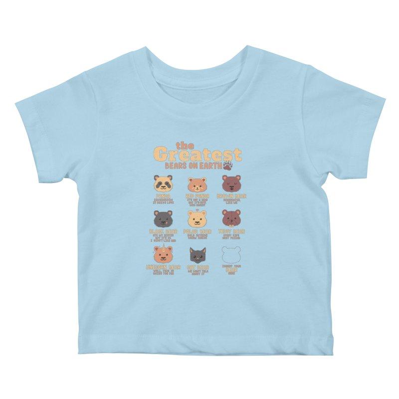 Greatest Bears Insert Your Bear Kids Baby T-Shirt by Tobe Fonseca's Artist Shop