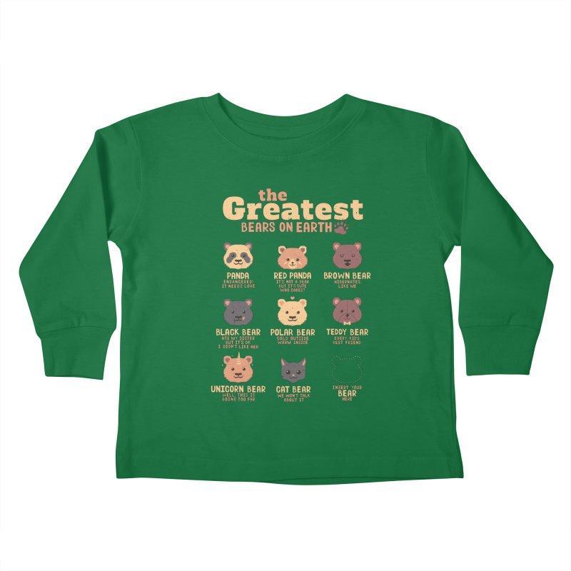 Greatest Bears Insert Your Bear Kids Toddler Longsleeve T-Shirt by Tobe Fonseca's Artist Shop