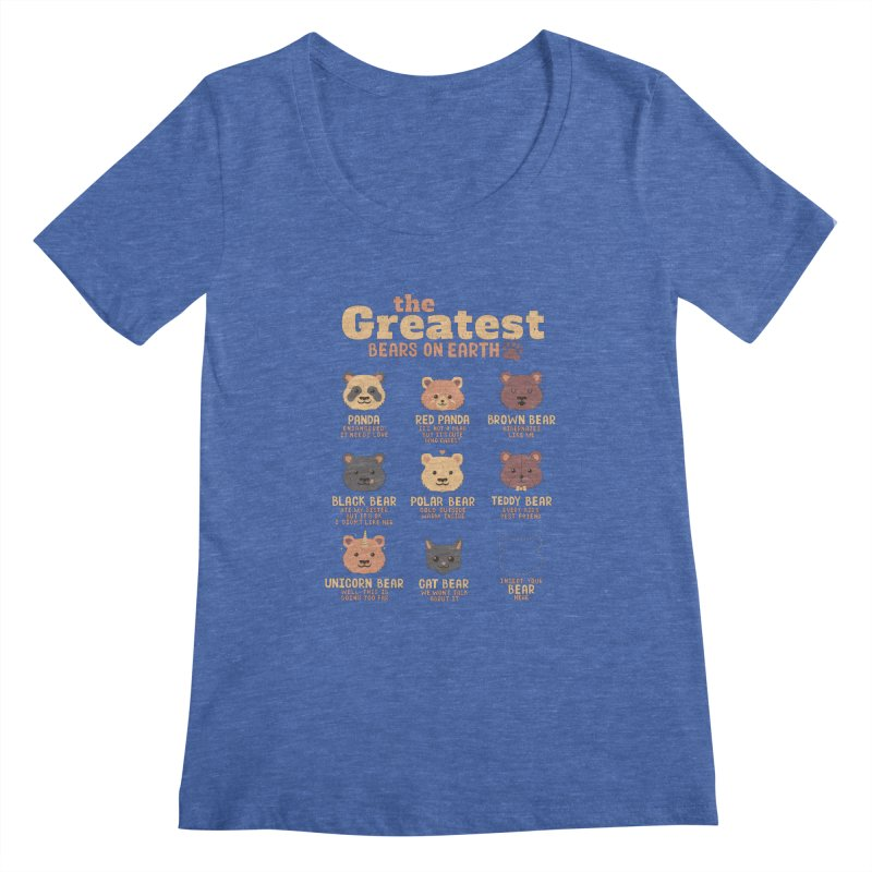 Greatest Bears Insert Your Bear Women's Scoopneck by Tobe Fonseca's Artist Shop