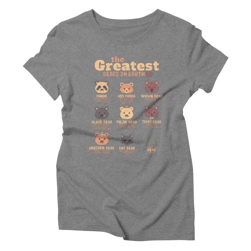 Greatest Bears Insert Your Bear Women's Triblend T-Shirt by Tobe Fonseca's Artist Shop