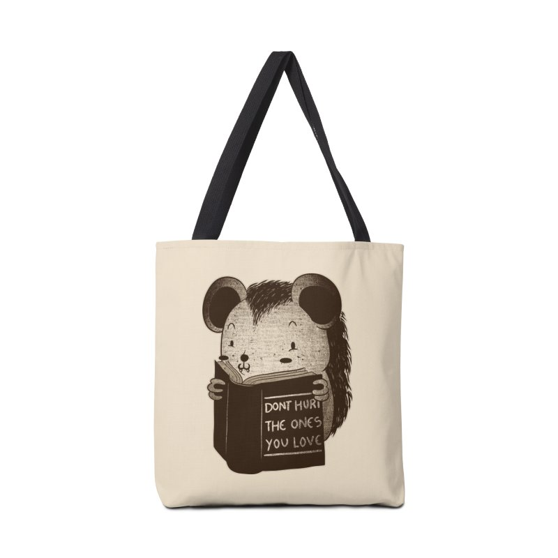 Hedgehog book don't hurt the ones you love Accessories Bag by Tobe Fonseca's Artist Shop