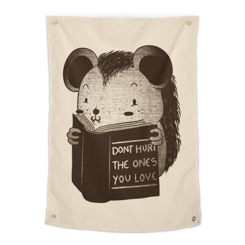 Hedgehog book don't hurt the ones you love Home Tapestry by Tobe Fonseca's Artist Shop