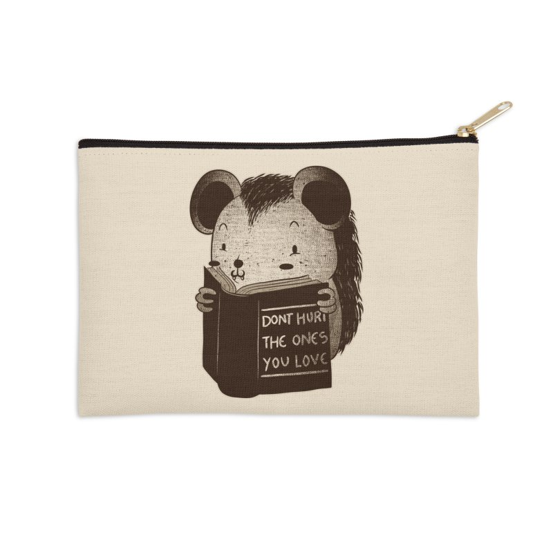 Hedgehog book don't hurt the ones you love Accessories Zip Pouch by Tobe Fonseca's Artist Shop