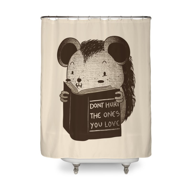 Hedgehog book don't hurt the ones you love Home Shower Curtain by Tobe Fonseca's Artist Shop