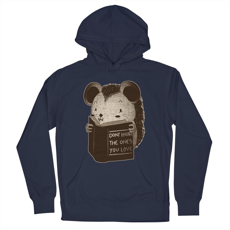 Hedgehog book don't hurt the ones you love Women's Pullover Hoody by Tobe Fonseca's Artist Shop
