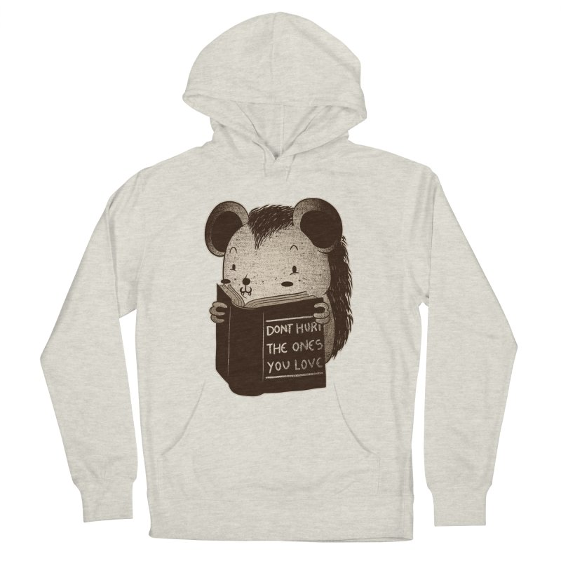 Hedgehog book don't hurt the ones you love Men's Pullover Hoody by Tobe Fonseca's Artist Shop