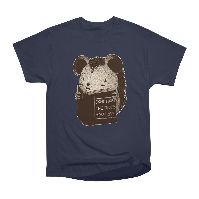 Hedgehog book don't hurt the ones you love Women's Heavyweight Unisex T-Shirt by Tobe Fonseca's Artist Shop