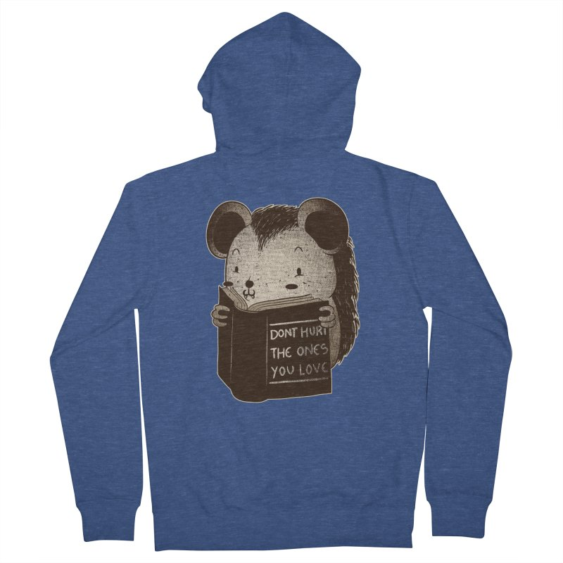Hedgehog book don't hurt the ones you love Men's Zip-Up Hoody by Tobe Fonseca's Artist Shop