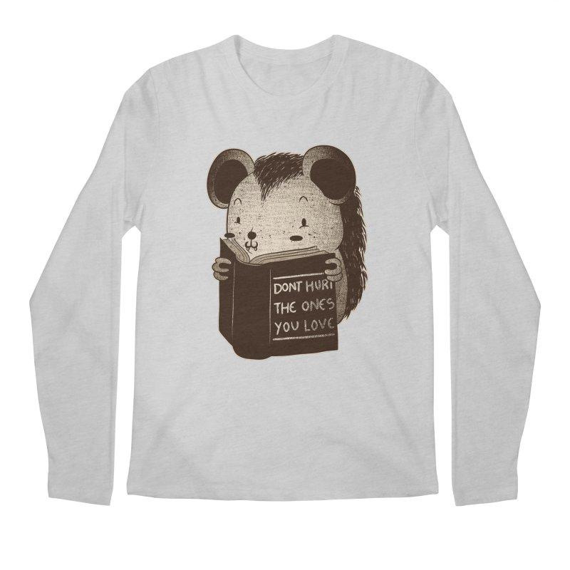 Hedgehog book don't hurt the ones you love Men's Longsleeve T-Shirt by Tobe Fonseca's Artist Shop