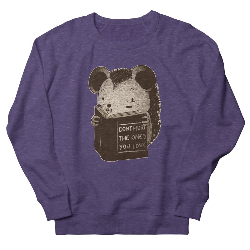 Hedgehog book don't hurt the ones you love Men's Sweatshirt by Tobe Fonseca's Artist Shop