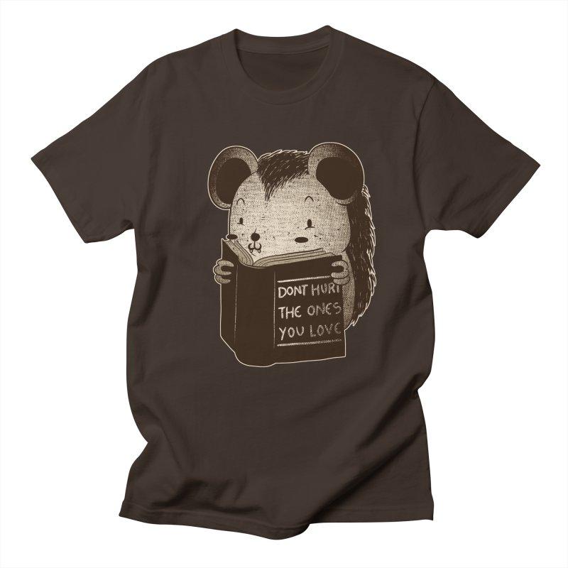 Hedgehog book don't hurt the ones you love Men's T-Shirt by Tobe Fonseca's Artist Shop