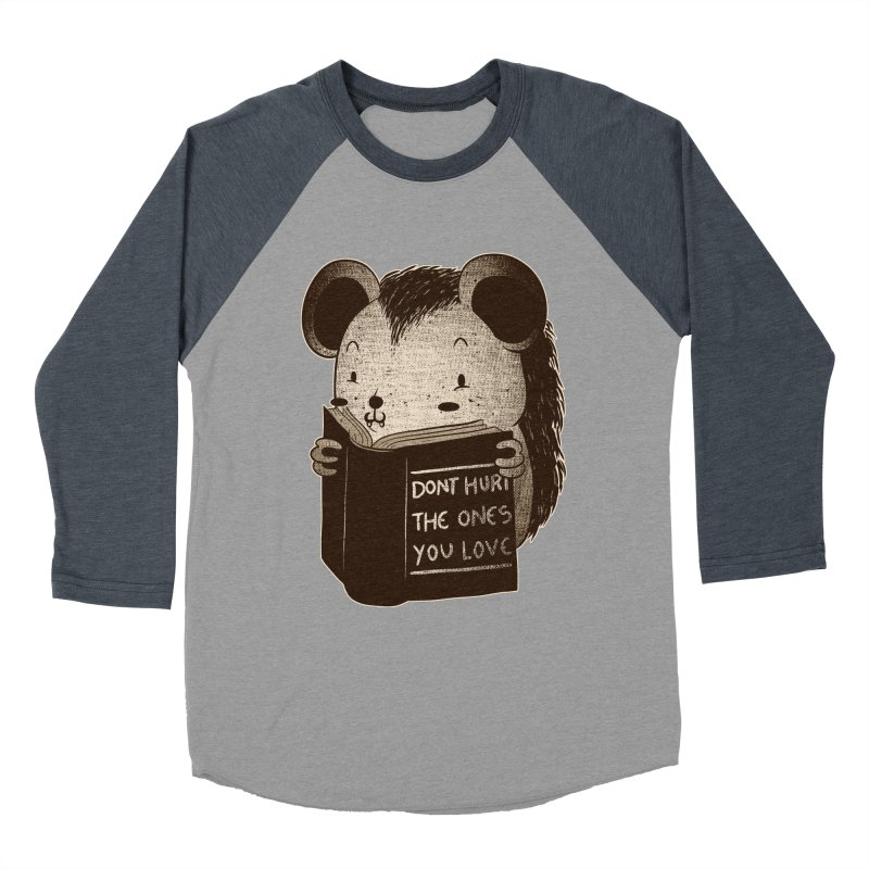 Hedgehog book don't hurt the ones you love Women's Baseball Triblend T-Shirt by Tobe Fonseca's Artist Shop