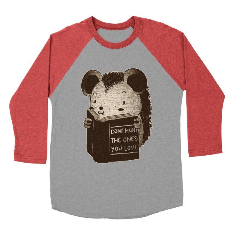 Hedgehog book don't hurt the ones you love Men's Baseball Triblend T-Shirt by Tobe Fonseca's Artist Shop