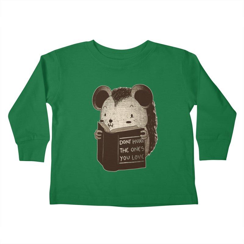 Hedgehog book don't hurt the ones you love Kids Toddler Longsleeve T-Shirt by Tobe Fonseca's Artist Shop