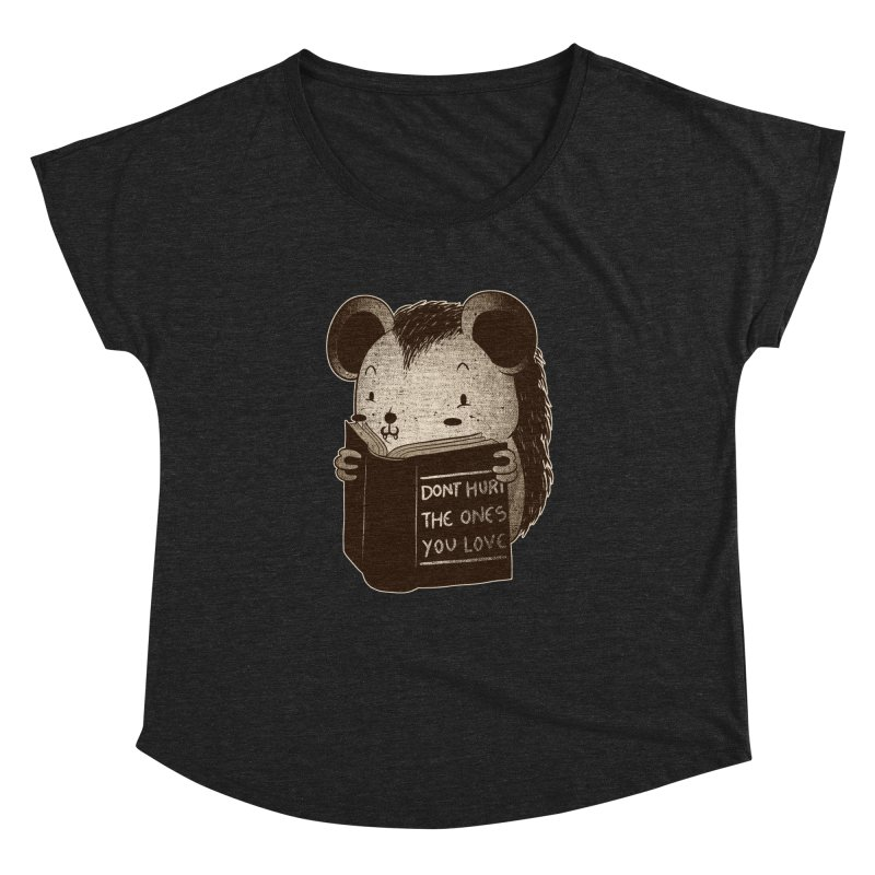 Hedgehog book don't hurt the ones you love Women's Dolman by Tobe Fonseca's Artist Shop