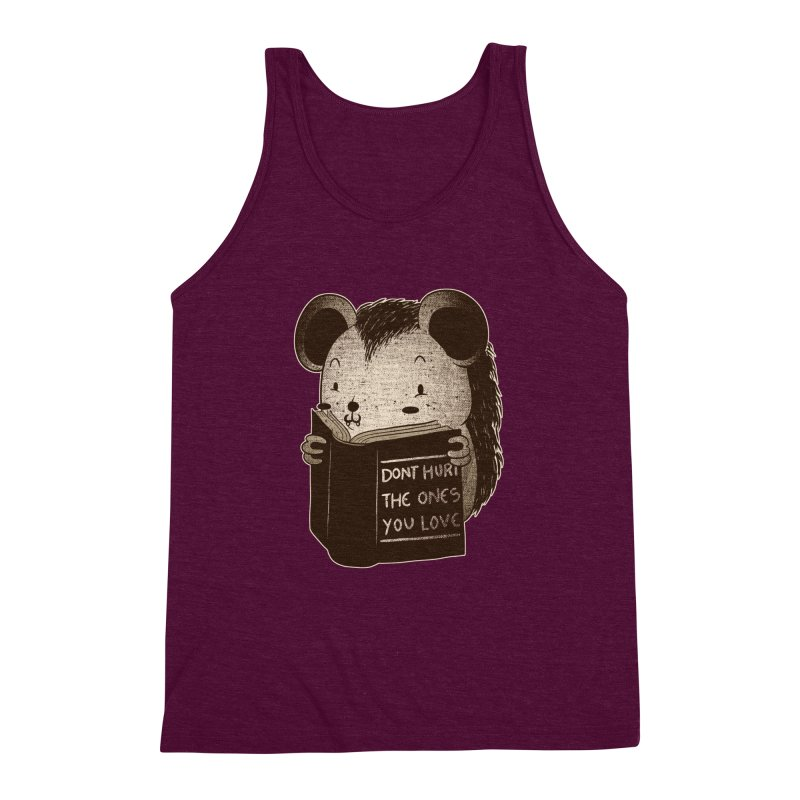 Hedgehog book don't hurt the ones you love Men's Triblend Tank by Tobe Fonseca's Artist Shop