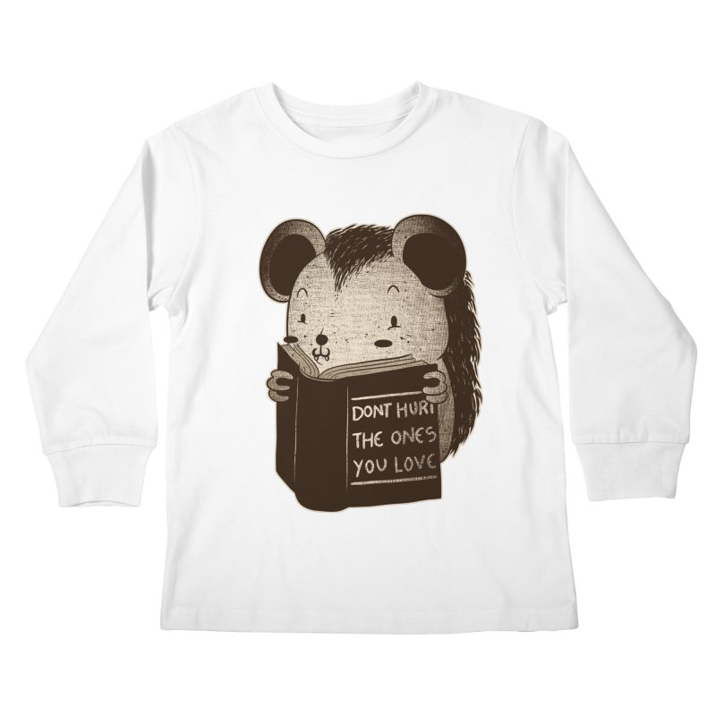 Hedgehog book don't hurt the ones you love Kids Longsleeve T-Shirt by Tobe Fonseca's Artist Shop