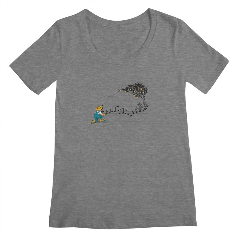 Maestro of Nature Women's Scoopneck by Tobe Fonseca's Artist Shop