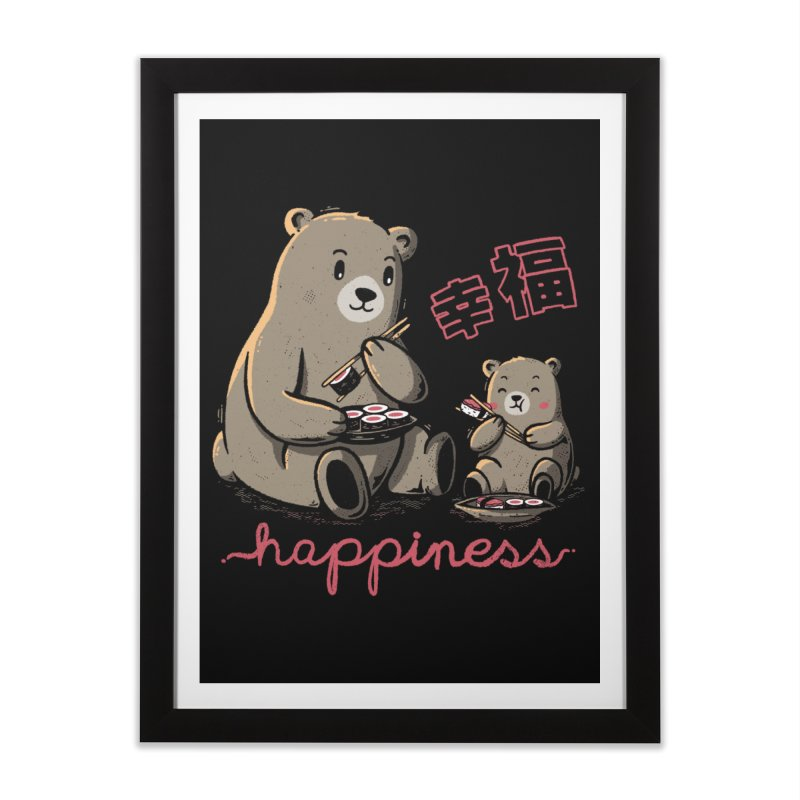 Happiness Sushi Home Framed Fine Art Print by Tobe Fonseca's Artist Shop